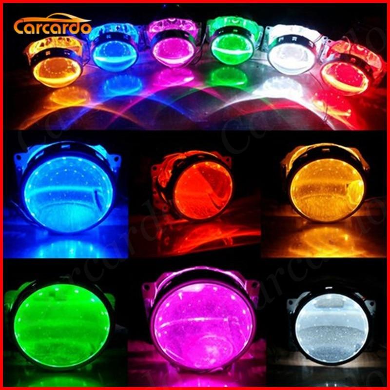 Carcardo 2 개 자동차 헤드 라이트 DIY 악마의 눈 LED - 자동차 조명 - 사진 3