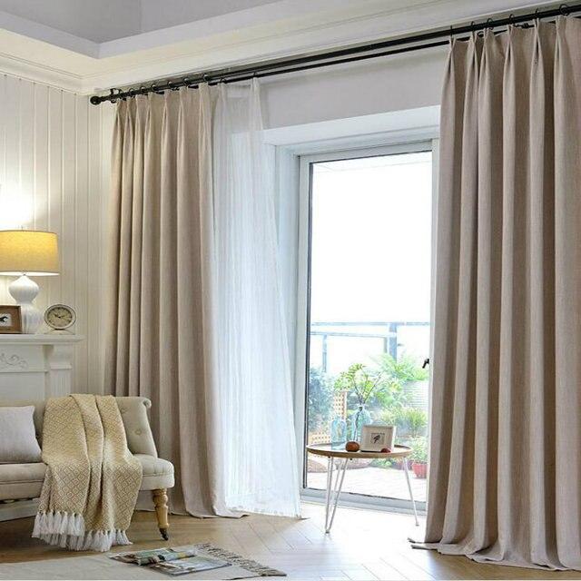 Moderne Style Série/isolant Blanc Gaze Rideau Salon Chambre Fenêtre Rideau  à Faire Pour Passer