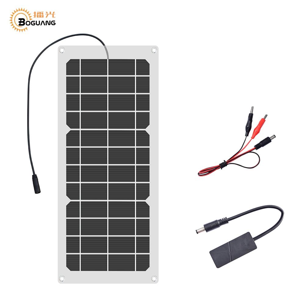 Boguang 6V 12V 10W Flexible solar panel cells charger 5V 1.5A USB output Devices portable placa solar for smartphones battery