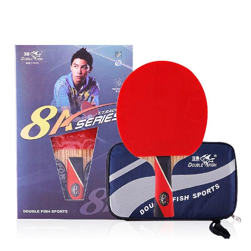 Double poisson 8 étoiles 8A tennis de table raquettes raquette paddle double en fiber de carbone 7 Plis lame rapide boucle d'attaque pour près de pause type