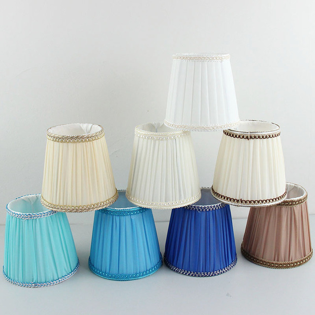 Beroemd 2 stks/partij Blauwe kleur Stof lampenkap, deco lampenkap, E14 gat @GN22