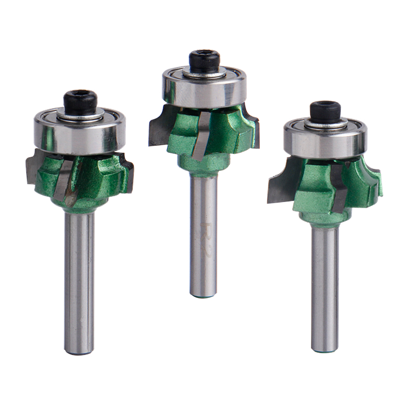 1pc 1/4/6.35mm Woodworking Milling Cutter R1/R2/R3 Trimming Knife 4 Flutes Edge Wood Cutter Wood Router Bit