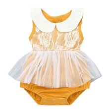 c8e76e0cb Telotuny bebé niña ropa de bebé sin mangas de encaje Floral mono mameluco  ropa de bebé niña princesa mameluco bebé Ja15