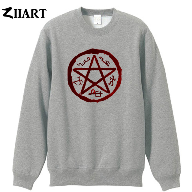 Supernatural Demon Symbols Devils Trap Symbol Couple Clothes Girls