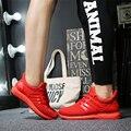 2017 Ocasionales de Los Hombres Zapatos Hombre Chaussure Femme Cesta Sólido Superstar Plana Transpirable Entrenadores Inferiores Rojos Ultras Aumenta Zapatillas