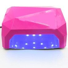 Jewhiteny 36W LED Lamp Nail Dryer Diamond Shaped LED Nail Lamp Curing for UV Gel Nails Polish Nail Art Tool Sun led light