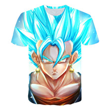 Brand Design Mens 3D T Shirt Dragon Ball Z Ultra Instinct Goku Super Saiyan God Blue Vegeta Print Cartoon Summer Tops T-shirt