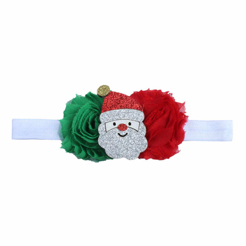 คุณภาพสูง Hot เด็กน่ารักเด็กวัยหัดเดินทารก Headband คริสต์มาสยืด Hairband Photo Prop ของขวัญวันเกิด Party อุปกรณ์เสริม YL1