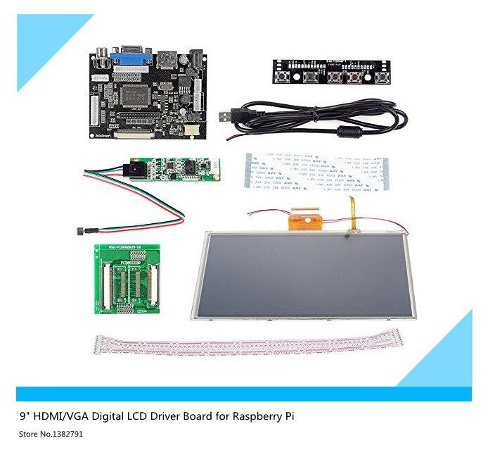 все цены на 9'' inch HDMI/VGA Digital LCD Driver Board with Touch Screen for Raspberry Pi онлайн