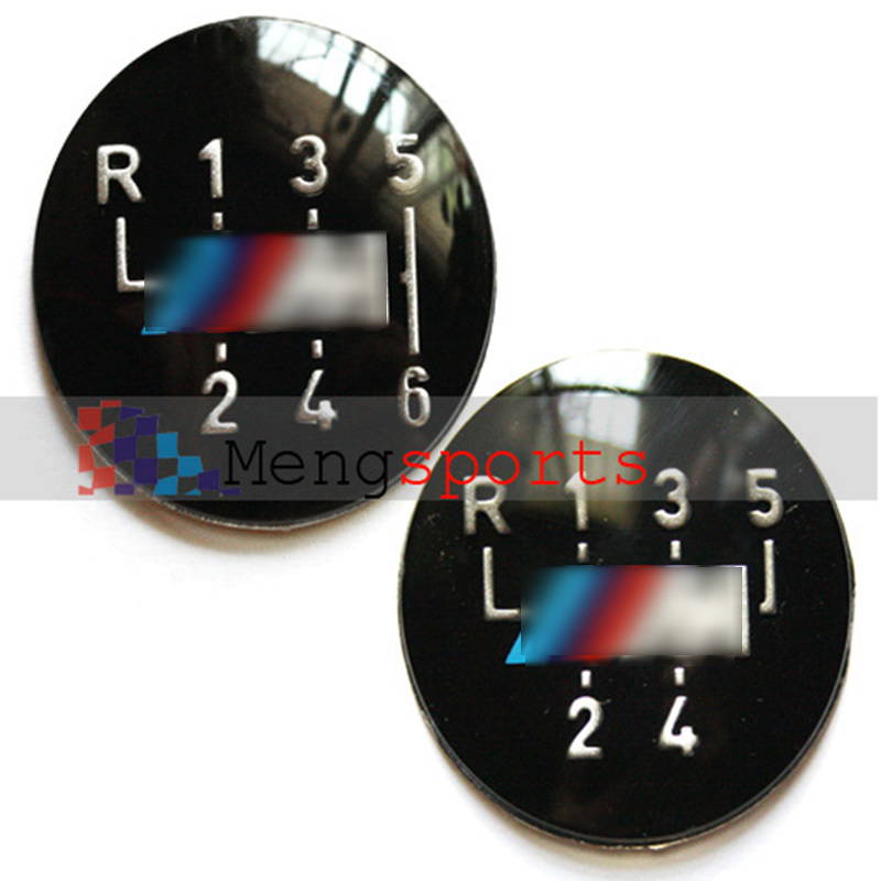 50pcs 6-Speed or 5-Spped Gear Knob Insert Mtec Shift Car Styling Embelm Sticker DHL free