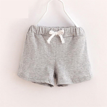 Mother nest 2018 Bermudas Menina Children Cotton Shorts Baby Girls Clothes Meisjes Kids Korte Broek Fashion Solid Pants D50