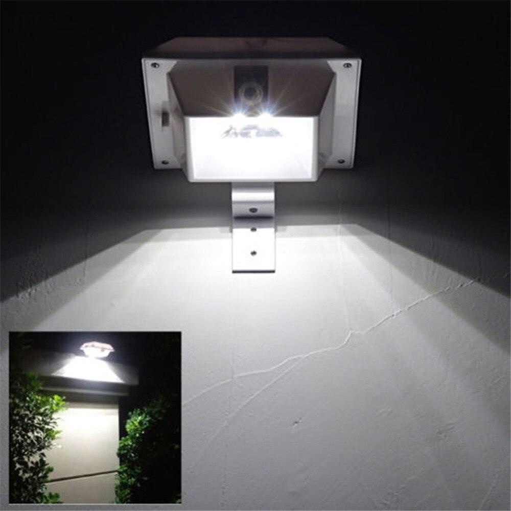 Super Bright Solar 4led Outdoor Gutter Light Pir Motion