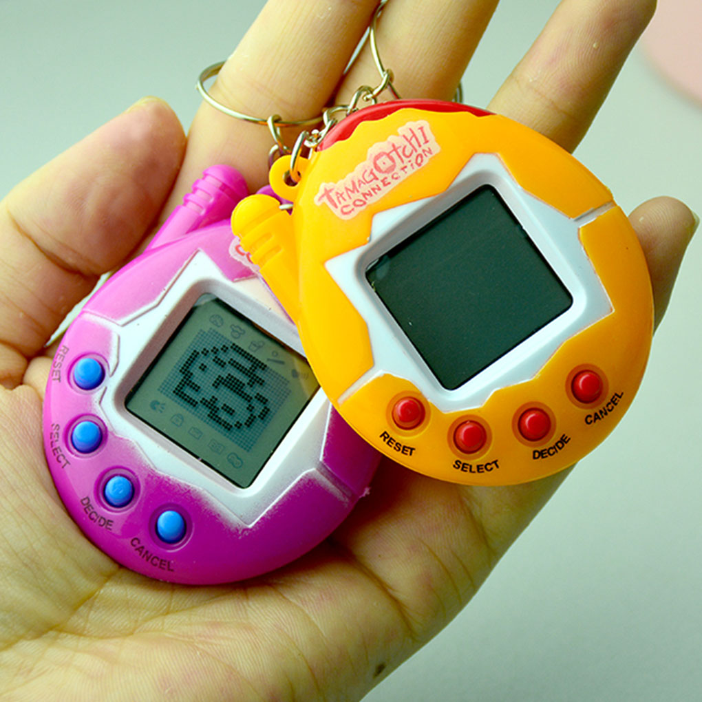 2019 New Multi-colors Funny Nostalgic Virtual Cyber Pet Toy Portable Pocket Electronic Pets Keychains Toys