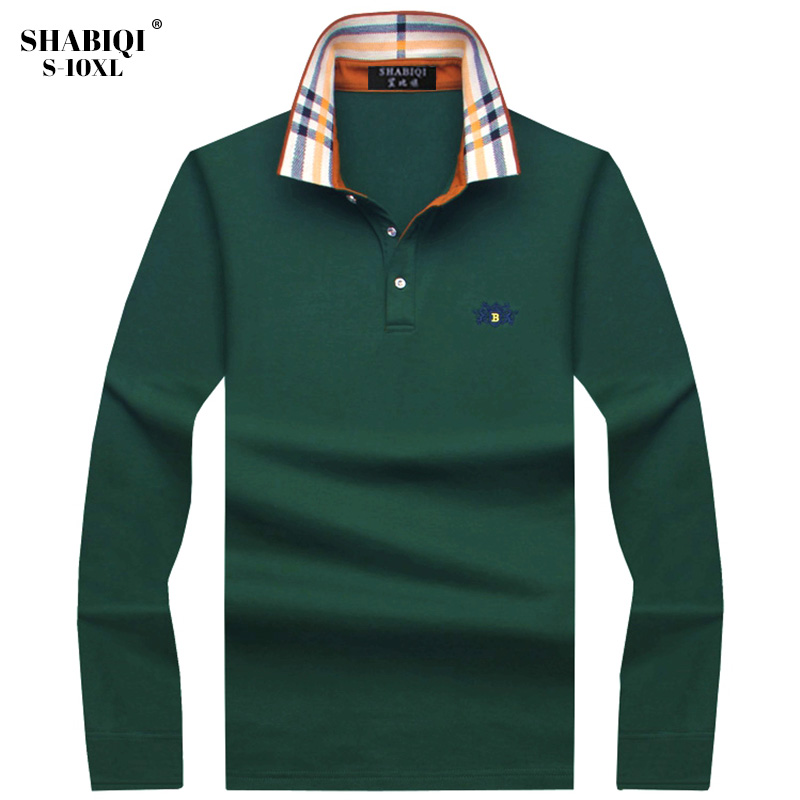 Plus Size S 10xl Top Grade New Fashion Mens Polo Shirt Solid Color