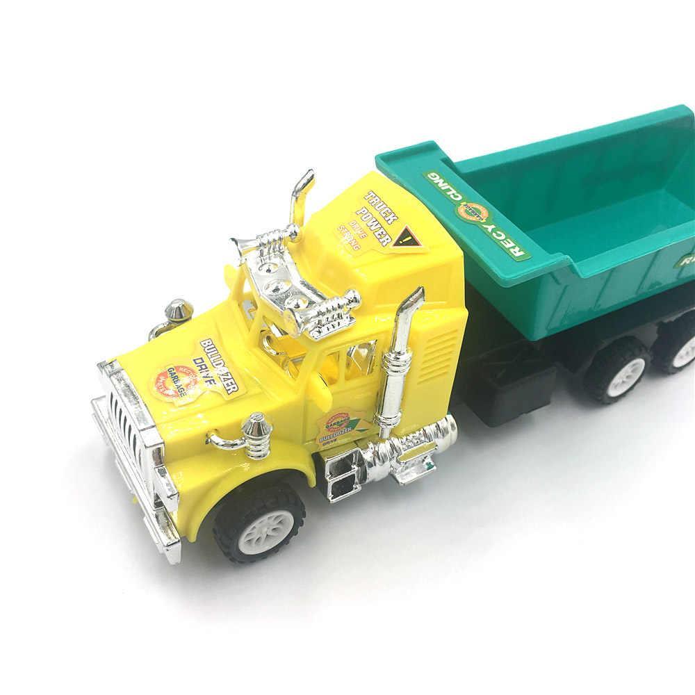 Teknik Mobil Model Traktor Mainan Dump Truk Model Klasik Mainan Kendaraan Mini Hadiah untuk Anak Laki-laki Diecast Model