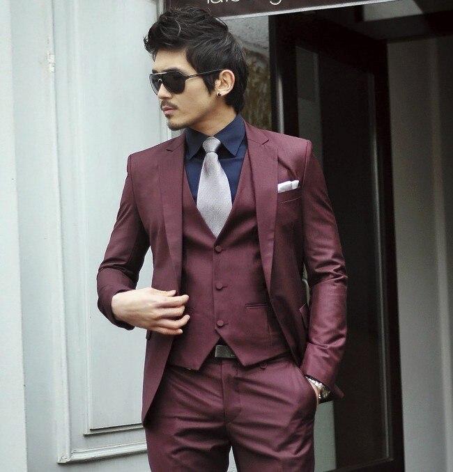 2015 Fashion Bridegroom Business Dress suit for men latest coat ...