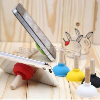 6pcs/ser Mini Plunger Holders Sucker Stand For Cell Phone PSP Toilet Shape Phone Sucker Holder(Random Color Sent) 1
