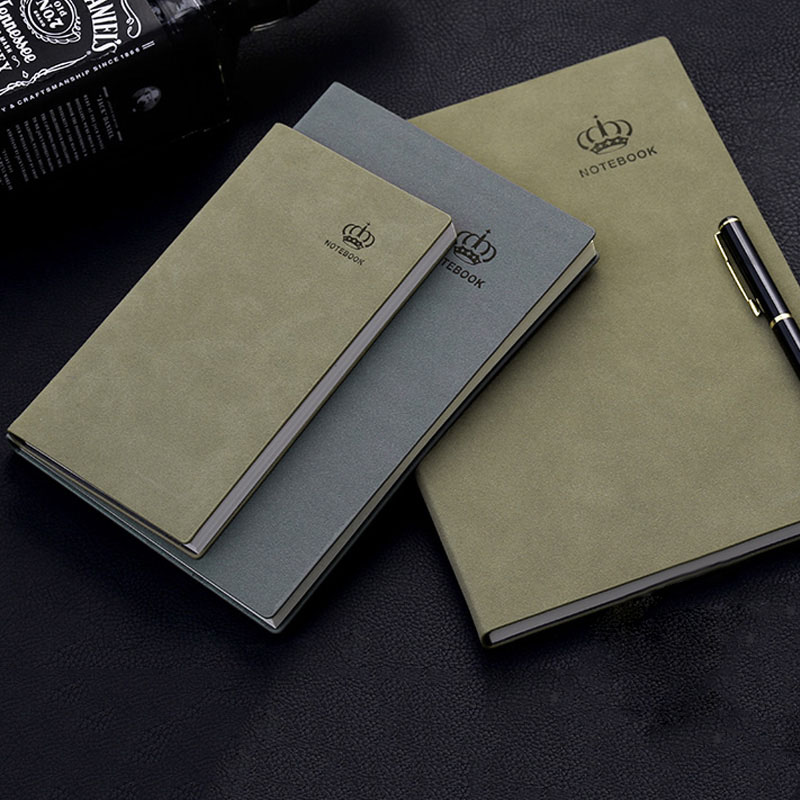 Buy RuiZe High quality matter leather notebook A5 B5 A6  vintage diary agenda handmade office school supplies stationery note book for only 1.99 USD