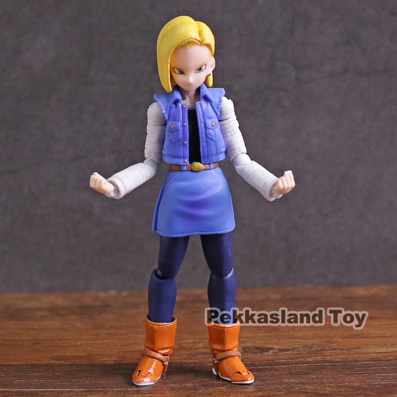 SHF S.H.Figuarts Dragon Ball Z Android NO.18 PVC Action Figure Model Toy 12.5 cm
