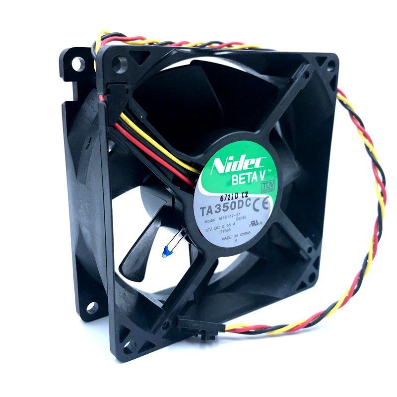 Wholesale For Nidec TA350DC M35105-58 9038 9cm 9238 DC 12V 1.8A chassis server inverter cooling fan