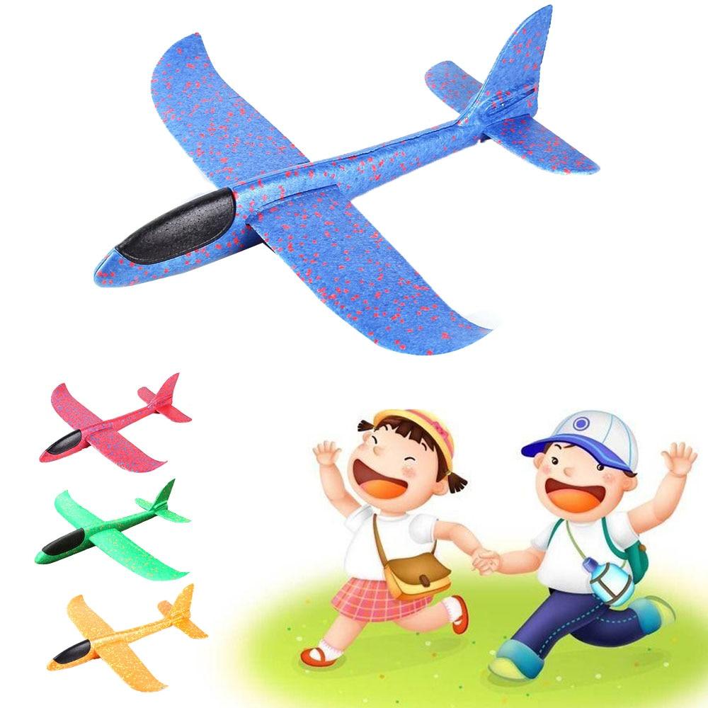 36 см DIY летающий самолет ручной бросок Летающий планер Самолеты игрушки для детей пена модель аэроплана вечерние уличные наполнители планер
