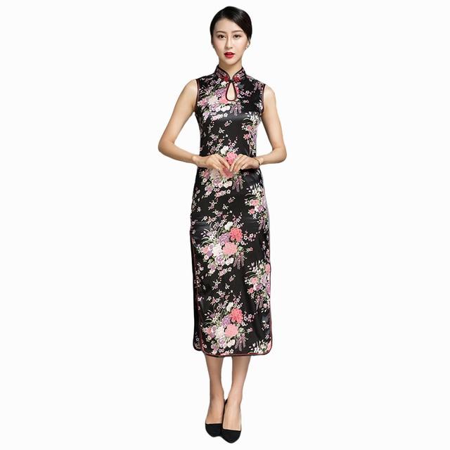 White Women s Rayou Long Halter Cheongsam Qipao Chinese Tradition Evening  Dress Flower Size S M L XL XXL 258ef1e0debd