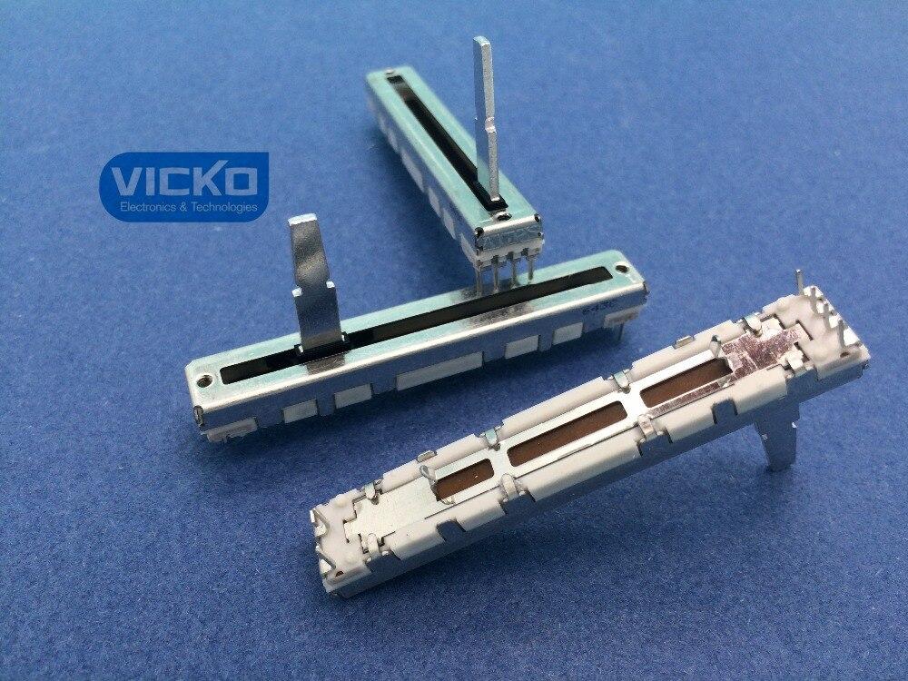 [VK] Alpes Japoneses DJM600 DJM-600 Putter B10K 10KBX2 60mm interruptor deslizante volúmen Fader con resistencia