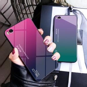 Image 1 - Cho xiaomi mi 5 S Trường Hợp Thời Trang Cứng Tempered Glass Sang Trọng Gradient Bảo Vệ Cover Quay Lại trường hợp Cho xiaomi mi 5 s mi 5 s đầy đủ bìa shell