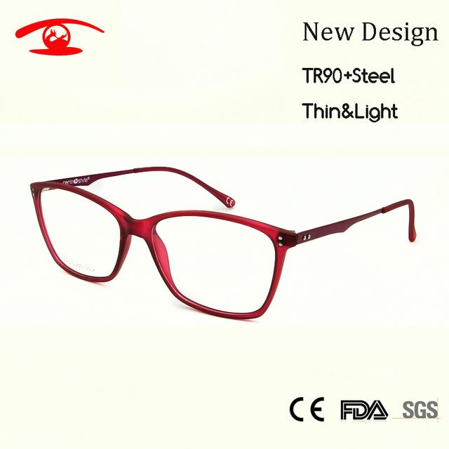 Mulheres Clássico Quadros TR90 Thin & Light Óculos Italy Projeto Prescrição Miopia Óculos Frame Ótico