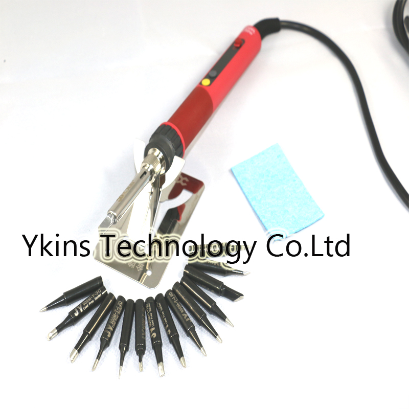 Welding Repair Iron Soldering E90W Soldering Adjustable CXG E60W LCD JY Tip Thermostat E110W NC Electric Handle Digital  14pcs