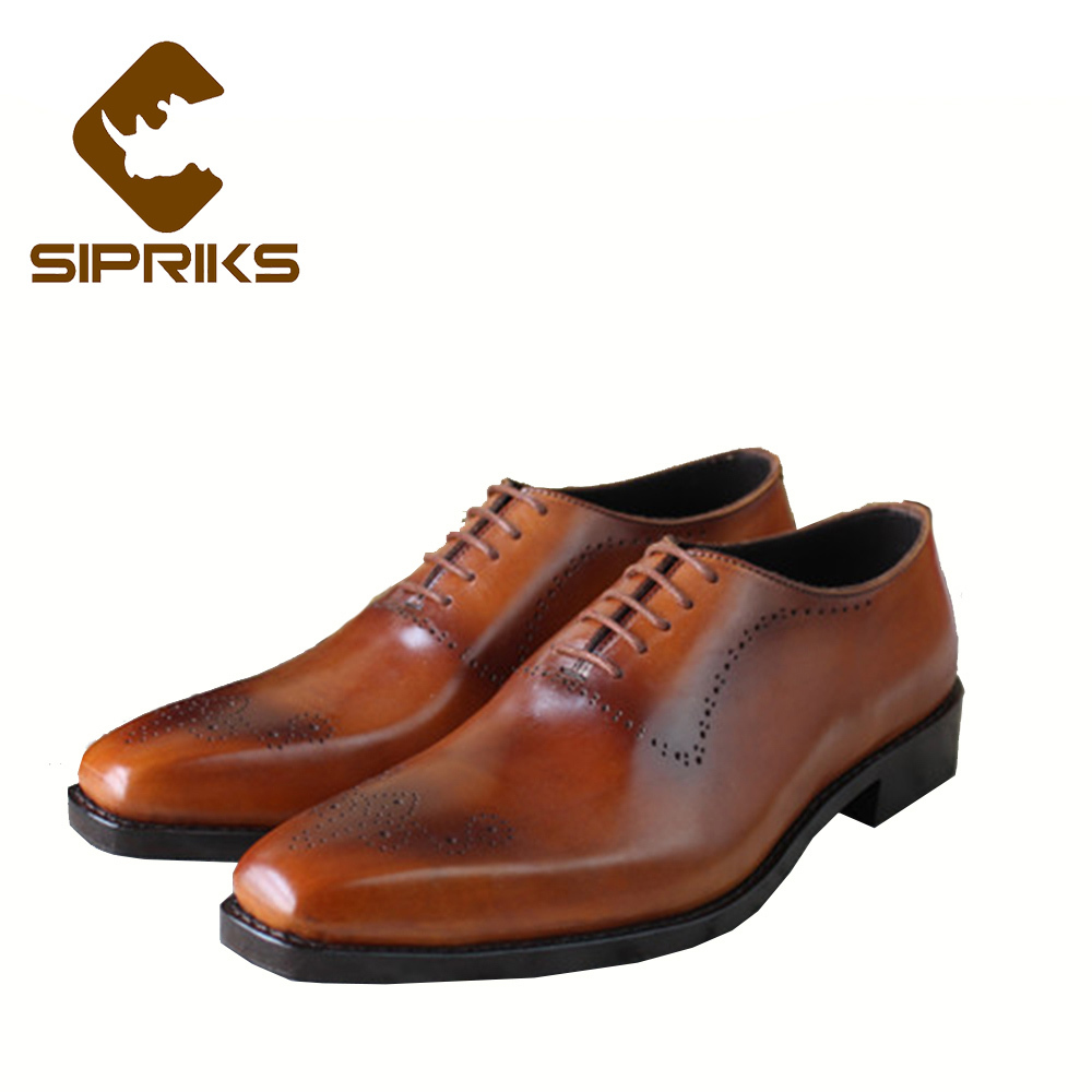 Sipriks luxury patina leather shoes mens Goodyear welted dress shoes elegant brown oxfords leather soled formal suits shoes boss 2016 luxury mens goodyear welted oxfords shoes vintage boss brogue shoes italian mens dress shoes elegant mens gents shoes derby