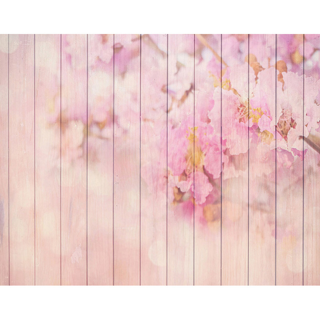 Custom pink floral wood wallpaper photography backdrops for newborn custom pink floral wood wallpaper photography backdrops for newborn wedding love party photo studio portrait thecheapjerseys Images