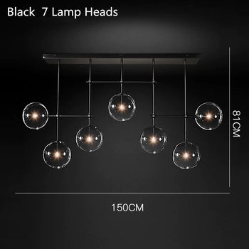 Postmodern LED chandelier ceiling living room hanging lights home fixtures Nordic dining room pendant lamps Glass ball lighting 10