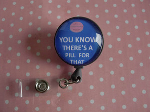 Image 2 - Sai che c è una Pillola per Questo, retrattile ID Badge Reel RX Badge Holder Farmacia Distintivo Reel Il Farmacista Badge Holder