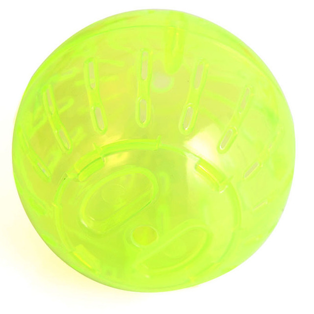 1Pcs Hamster Ball Toy Rabbit Gerbil Rat Running Exercise Jogging Ball Plastic Grounder Hamster Ball For Pet Small Toy P10