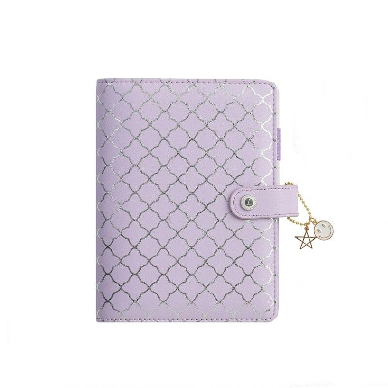 Lovedoki Luxury Purple Notebooks And Journals A6 Binder Agendas Planner Organizer Daily Schedule Book Gift School Stationery