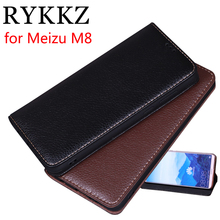 RYKKZ Luxury Leather Magnetic Flip Cover For Meizu M8 5.7'' Mobile Stand Case For Meizu X8 M15 Lite Leather Phone Case Cover цены