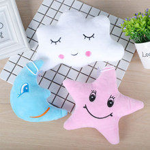Stars and Moon Dolls Pendant Cute Flaky Clouds Emoticon Pillow Cloth Lady Pillow Cloth Doll Positioner Baby pillow Crib Bumper(China)