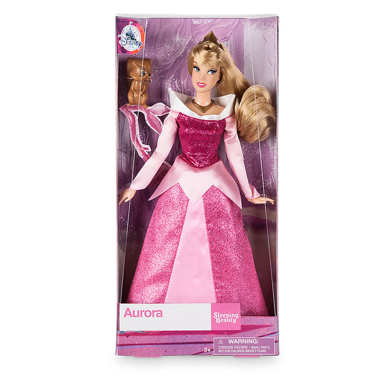 Original Disney Store Aurora Classic princess Doll with Squirrel Figure toys For children gift цена