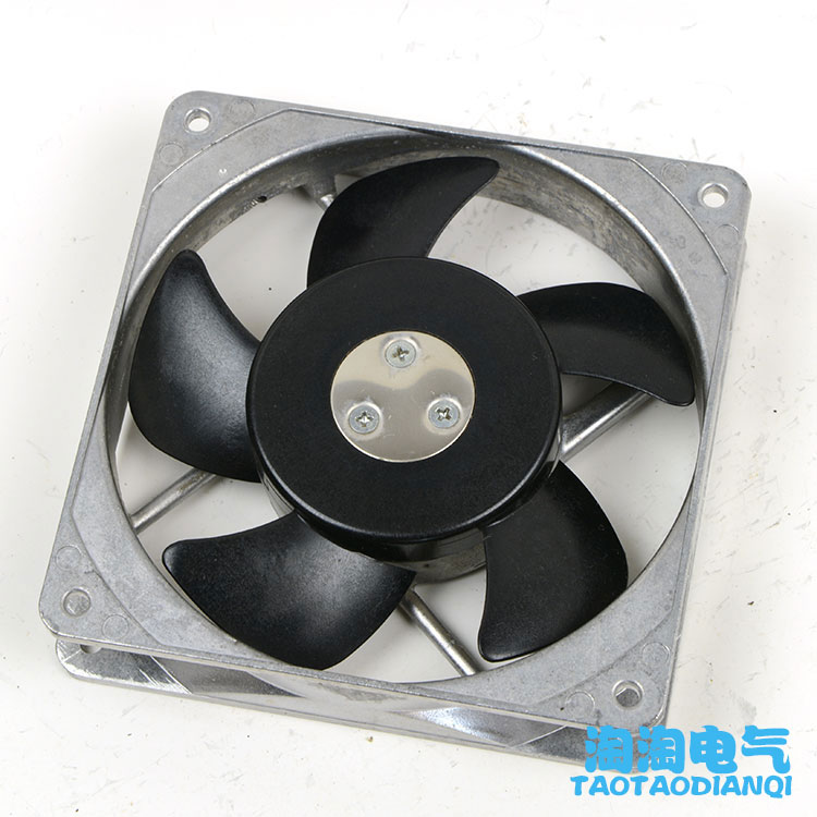 Emacro For ORIX MU1225S-41 Server Square Fan AC 200V 11W 120x120x25mm 2-pin emacro for quan feng qa18060hbl2 server square cooling fan ac 220v 0 35a 180x180x60mm 2 wire