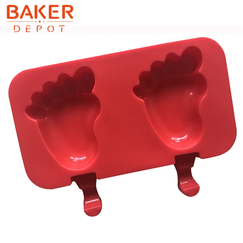BAKER DEPOT 2 Cavity Silicone Molds for icecream ice cube DIY chocolate tools candy pudding molds Paws