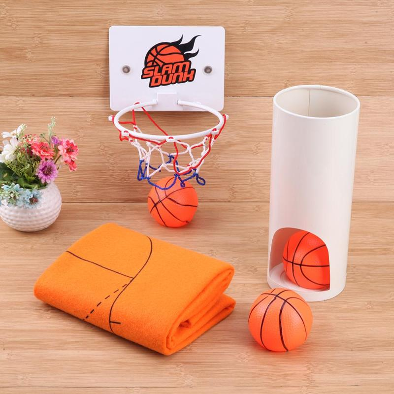 Toy Basketball Court Bathroom Basketball Playing Toy Kids Sports Gifts Competitive Toilet Funny Sport Toy Set