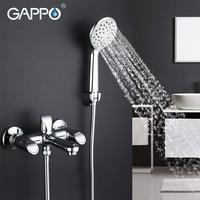 GAPPO 1set Bathtub Faucet Mixer Bathroom Sink Shower Faucet Brass Waterfall Torneira Mixer Bathtub Sink Tap