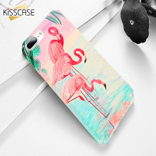 цена KISSCASE Chic Case For iPhone X XR XS Max Flamingo Cartoon Cover For iPhone 6 6s 7 8 Plus 5 5s SE Hard Protective Phone Back Bag