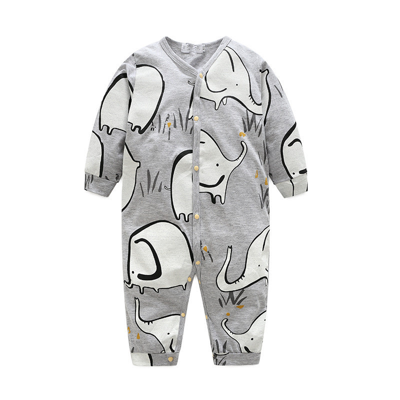 Newborn Baby Rompers Baby Clothing Elephant Print Cotton Infant Jumpsuits Long Sleeve Unsex Rompers Costumes Baby Rompers newborn baby rompers baby clothing 100% cotton infant jumpsuit ropa bebe long sleeve girl boys rompers costumes baby romper