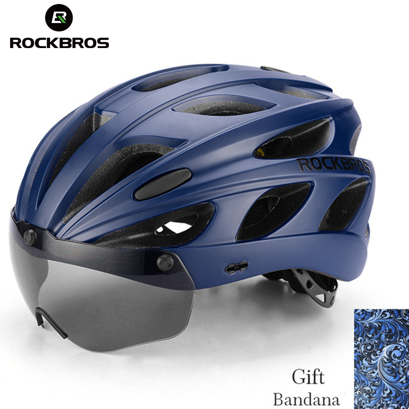 ROCKBROS Goggles Climbing Helmets Integrally-molded Ultralight Magnetic MTB Mountain Hiking Bicycle Men Helmets With Sunglasses topeak outdoor sports cycling photochromic sun glasses bicycle sunglasses mtb nxt lenses glasses eyewear goggles 3 colors