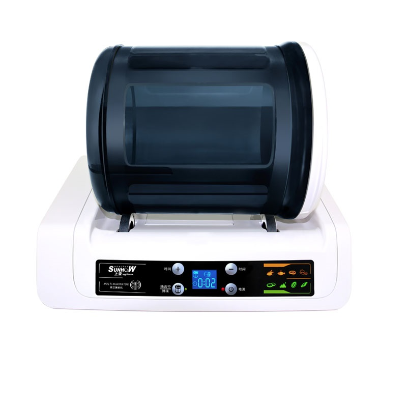 3 pcs 220V Electric Vacuum Food Marinator Tumbling Machine Household Vacuum Pickling Machine Chicken Burger Marinated Bacon stainless steel 35l meat salting marinated machine chinese salter machine hamburger shop fast pickling machine with timer 220v