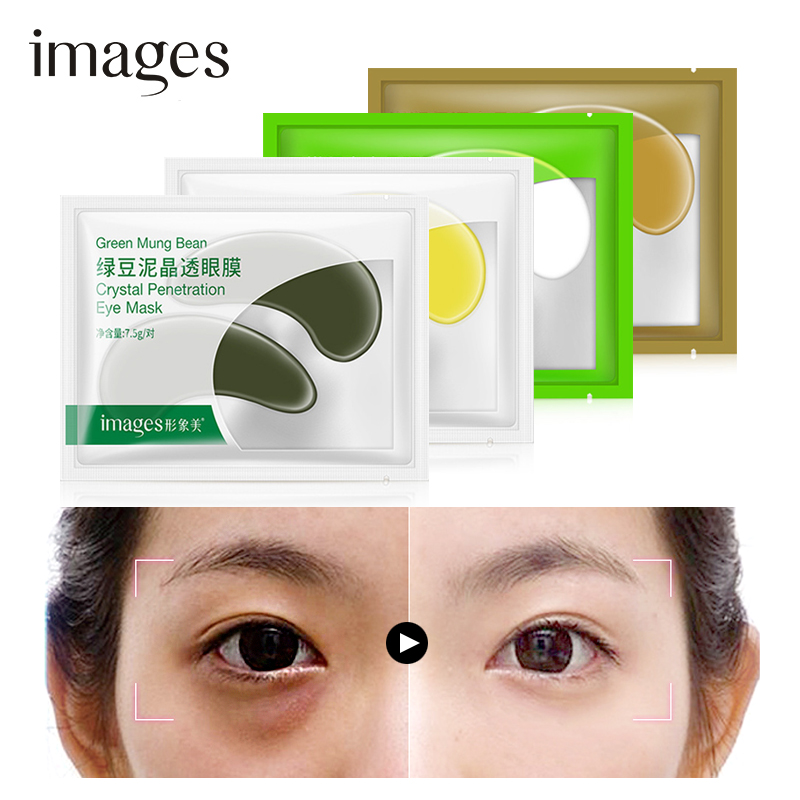 Face Skin Care Tools 1pcs Mung Bean Mud Crystal Gold Osmanthus Eye Patch Moisturizing Lifting Firming To Fine Lines Dark Circles Eye Patch