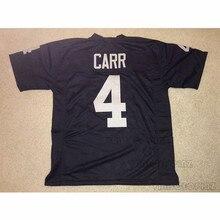 Mens Derek Carr Stitched Name Number Throwback font b Football b font Jerseys UNSIGNED NO LOGOS
