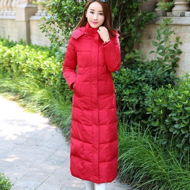 Alta qualidade 2016 moda inverno longo X-4XL plus size Para Baixo casaco Slim com capuz de algodão Engrosse Wadded Casacos de inverno mulheres casaco
